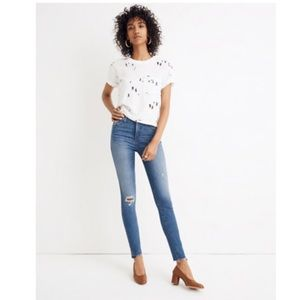 "NWT Madewell 10"" High Rise Skinny Step Hem Jeans"